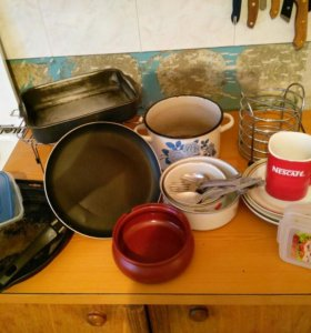 Посуда Б\У для дачи, на природу. Все одним лотом.