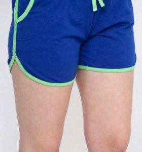Спортивные женские шорты синие