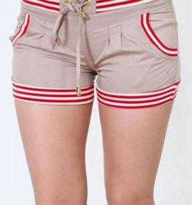 Женские шорты бежевые