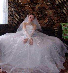 Продается красивое свадебное платье