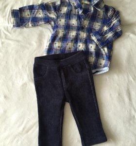 Брюки и рубашка Benetton на мальчика