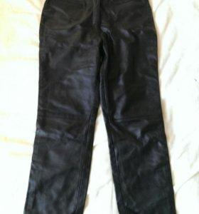 Кожаные брюки, р.46-48