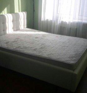 Кровать экокожа 160×200