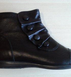 Ботинки осенние р. 39 кожа