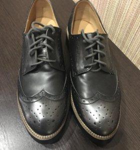 Женские новые броги, туфли на шнурках