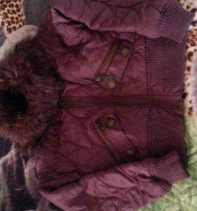 Куртка на девочку от 8-11 лет.