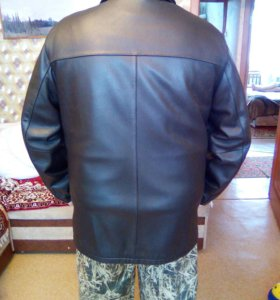 Куртка кожаная зима лето