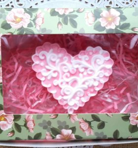 Мыло ручной работы в коробке