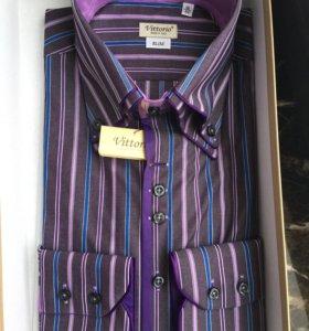 Сорочка 41 размер, Италия, slim