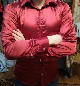 Мужская атласная рубашка
