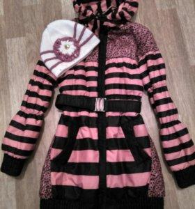 Продается куртка весна-осень+шапка.