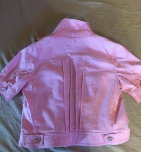 Куртка розовая,джинсовая
