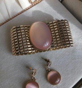 Комплект (браслет и серьги)
