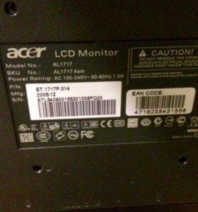 """Монитор 17"""" Acer LCD в идеальном состоянии"""