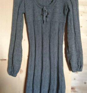 Платье тёплое вязанное