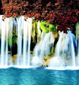 Фартук кухонный водопад новые