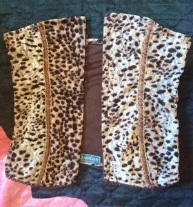 Топ леопардовый трикотаж