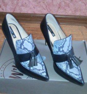 Новые кожаные туфли Н&М