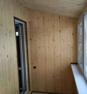 Установка окон,отделка балконов.Регулировка.