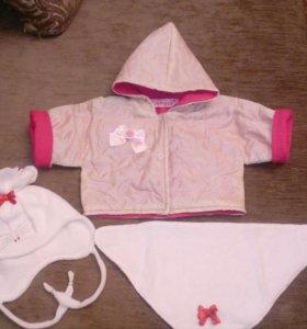 Курточка и шапка для куклы