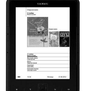 Новая электронная книга Texet TB-136. Гарантия 1 г