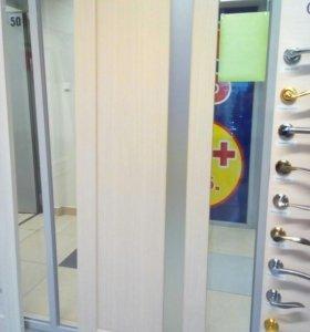 Дверь эко-шпон Белёный дуб