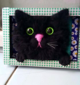 Объёмная картина.котик Чарльз.