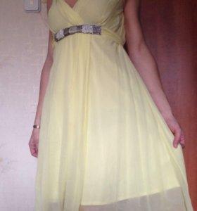 Желтое платье, 44-46