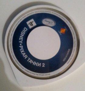 Диск от игры DISNEY PIXAR Тачки 2 на PSP
