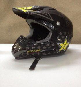 Шлем кроссовый новый размер m 57-58 маломерка