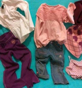 Одежда для девочек 7лет 6 вещей