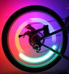 Огни на колеса велосипеда