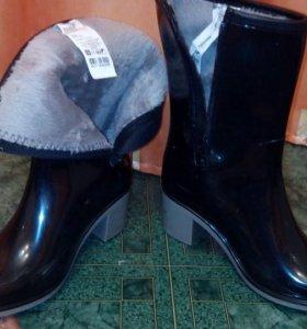Обувь сапоги резиновые на замочке