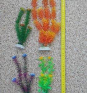 Искусственные растения в аквариум.