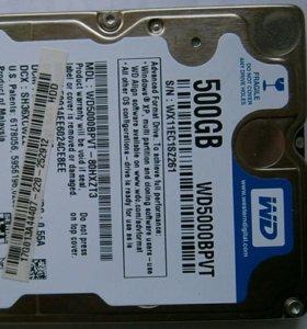 """HDD 2,5"""" 500 GB SATA WD WD5000BPVT-80HXZT3"""