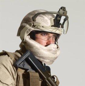 Защитная маска лица с крепежом для шлема