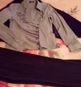 Пиджак, брюки, блуза р.48-50