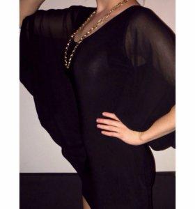 Платье new look вечернее черное