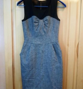 Шерстяное платье 42р