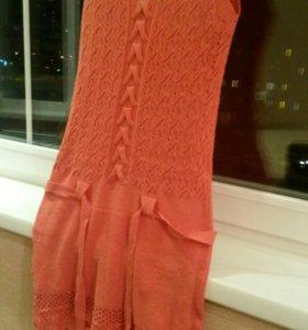 Вязоное платье