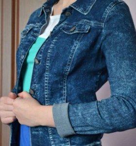 Джинсовый стрейч пиджак Gloria Jeans