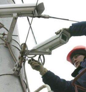 Монтаж систем видеонаблюдения на высоте