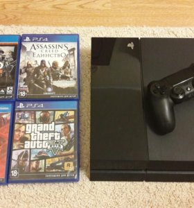 Playstation 4 500 Gb + 6 игр