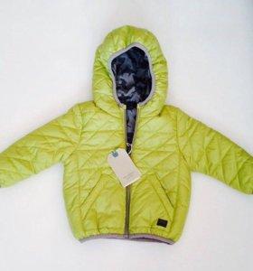 Новая куртка Zara 6-9мес мал