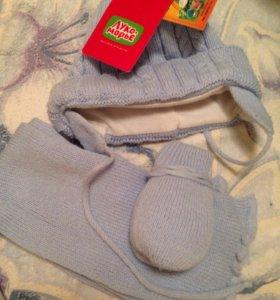 Шапка,шарф,рукавички