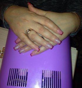 Наращивание ногтей. Шеллак