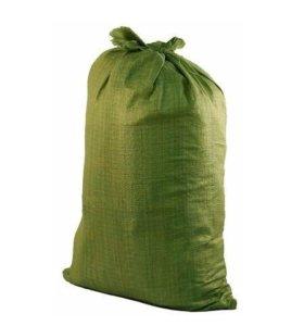 Мешки зеленые строительные