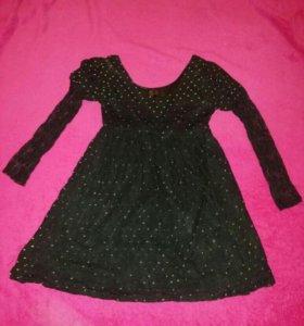 Платье шифоновое с кружевом. р.40-42