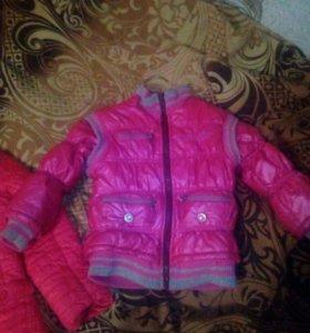 Весения куртка на девочку.