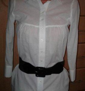 Белая рубашка (42-44р) (блузка, кофточка)